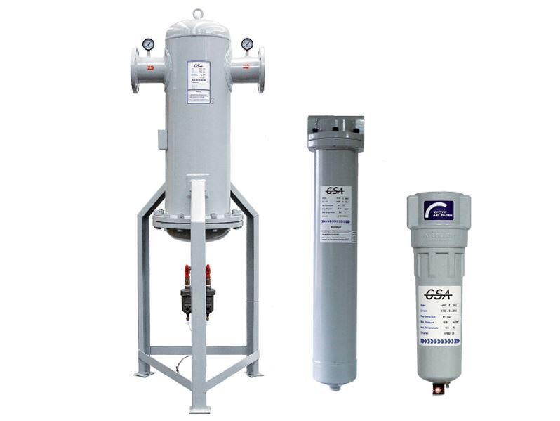 Bộ lọc đường ống khí nén GSA