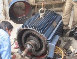 Motor repair of air compressor